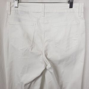 NYDJ Not Your Daughter Mini Boot White Jeans